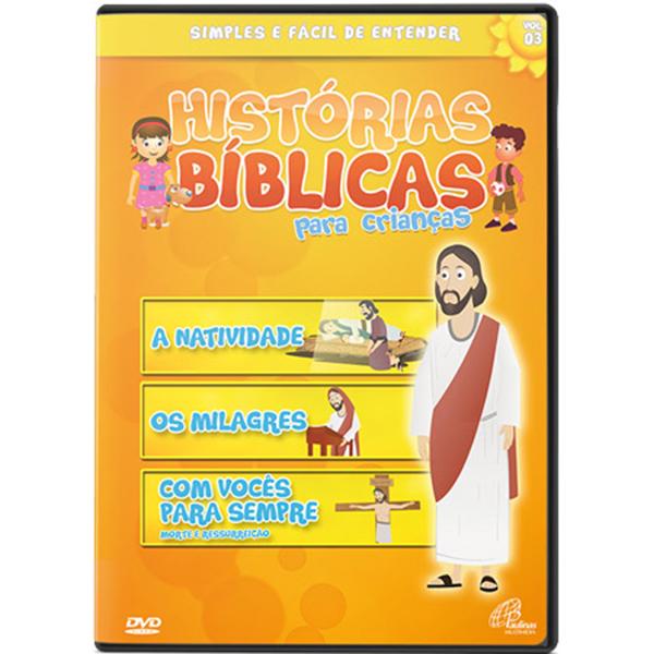 Histórias bíblicas para crianças - vol. 3 (68 min.)