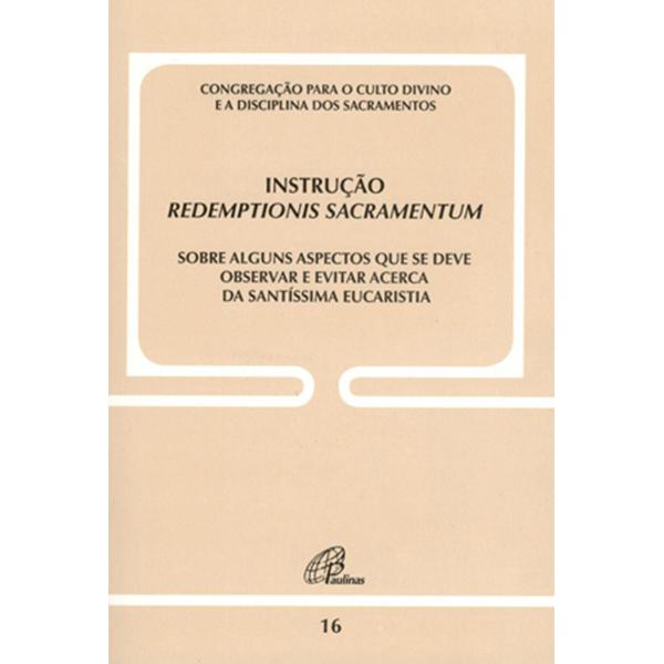 Instrução Redemptionis Sacramentum - Doc. 16