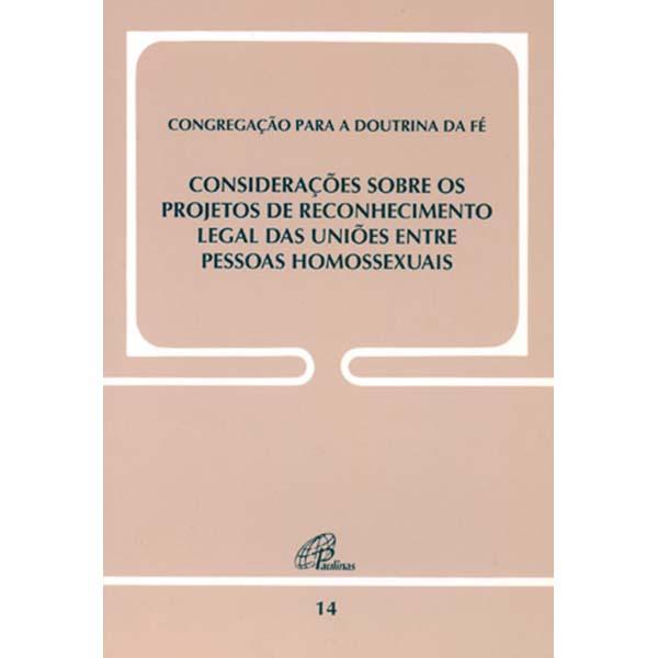 Considerações sobre os projetos de reconhecimento legal das uniões..Doc. 14