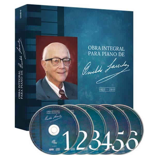 Obra integral para piano de Osvaldo Lacerda - Box com 6 CDs