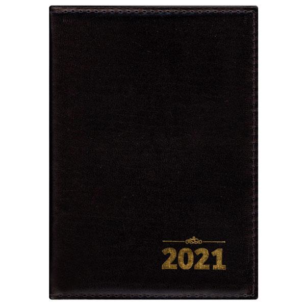 Agenda de mesa tradicional 2021 - liso preto