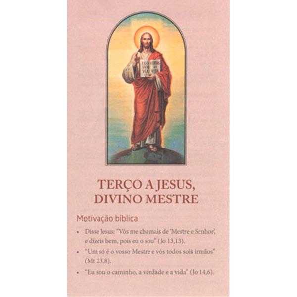 Terço a Jesus, Divino Mestre