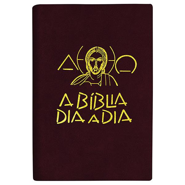 Bíblia dia a dia 2022 - luxo - Liso vinho