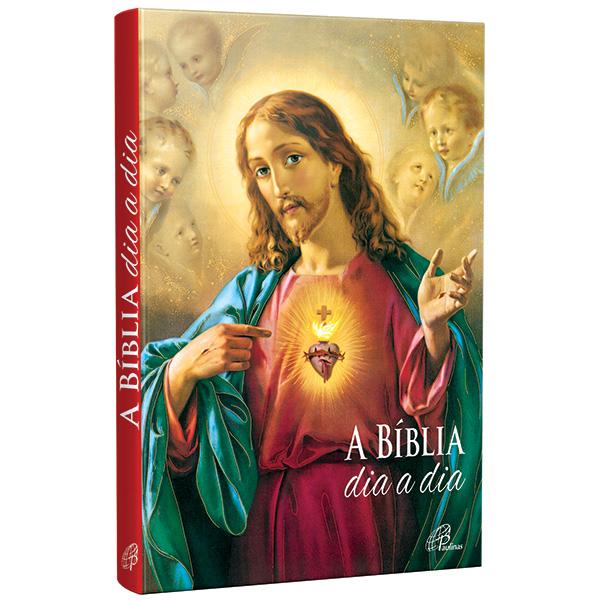 Bíblia dia a dia 2022 - capa cristal - Coração de Jesus