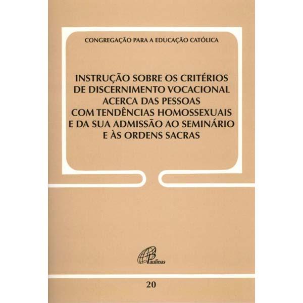 Instrução sobre os critérios de discernimento vocacional acerca das pessoas