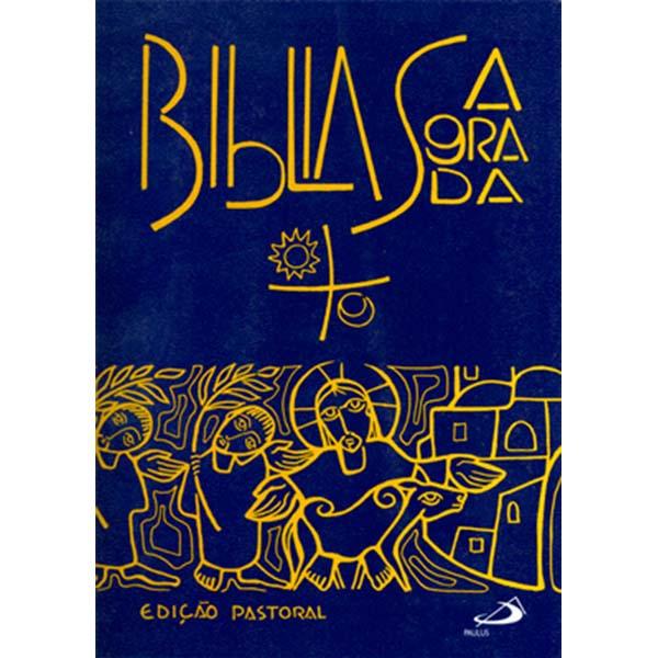 Bíblia Sagrada - Ed. Pastoral c/ orações - média capa cristal (plástica)