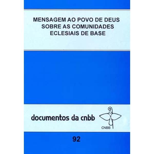 Mensagem ao povo de Deus sobre as comunidades eclesiais de base - 92